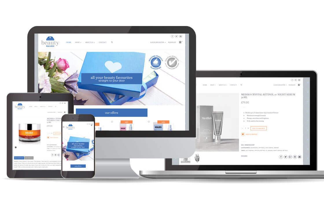 Beauty Mailbox e-commerce website