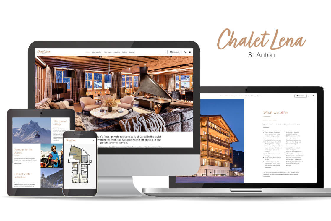 Luxury holiday home website design and build