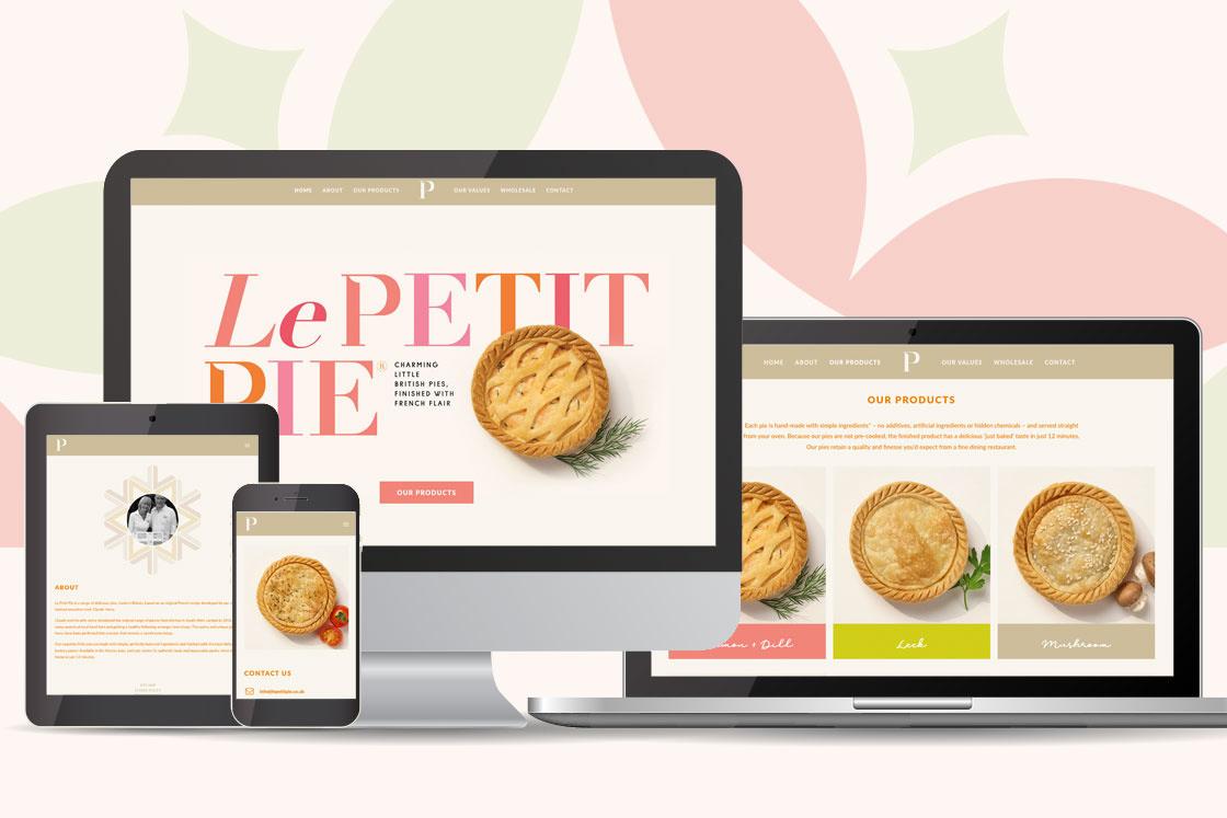 Le Petit Pie Website Design