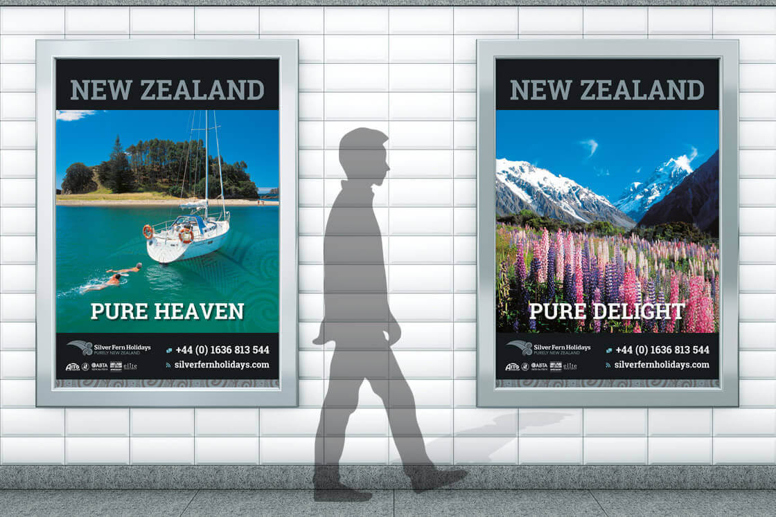Silver Fern Holidays Window Posters