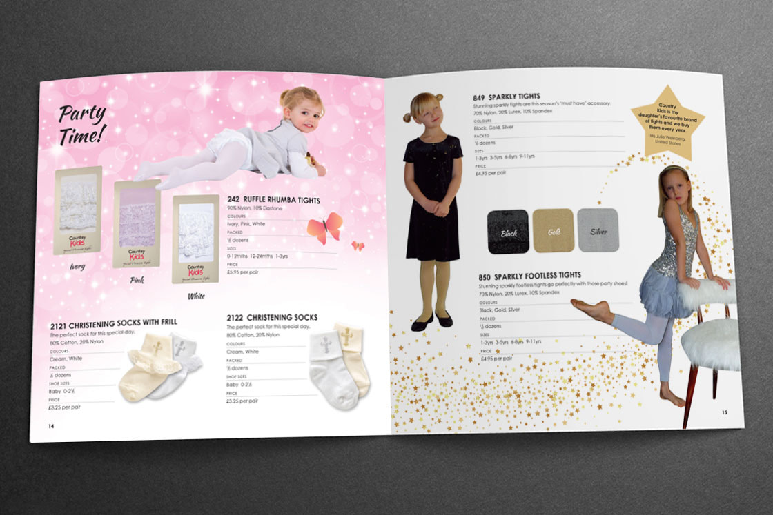 Country Kids Sales Brochure | Party Tights
