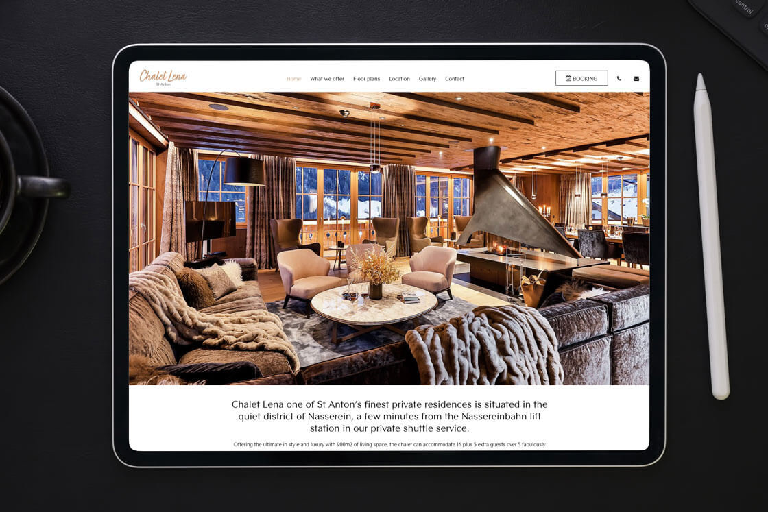 Luxury holiday home website