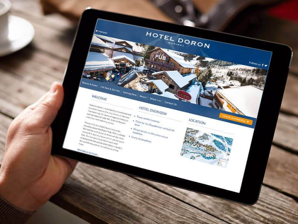 Hotel Doron website development