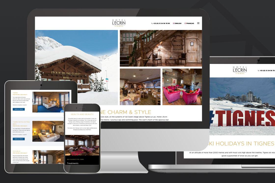 Hotel Website Design for Hotel L'Ecrin