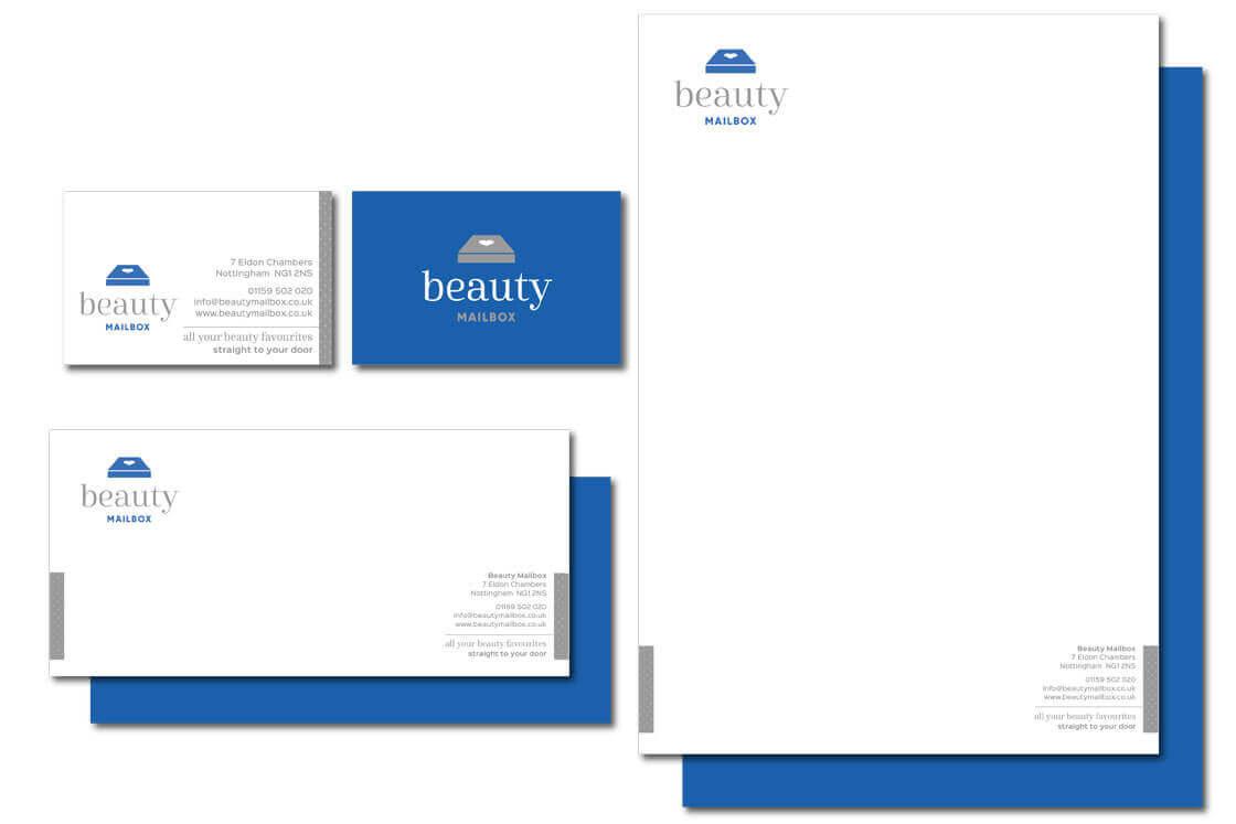 Beauty Mailbox corporate stationery